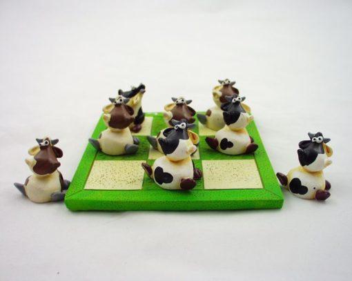 Boter/kaas/eieren koeien creme/zwart