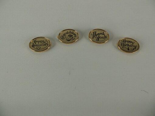 """Magneet Label """"Happy Anniversary"""" 3x2.5cm"""
