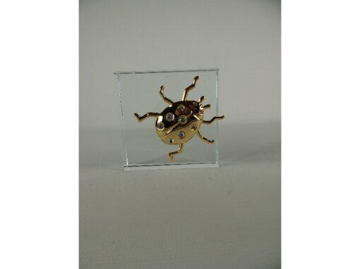 Raamdecoratie lieveheersbeestje 5cmL