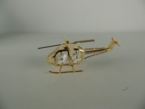 Helicopter verguld 9.5cmL