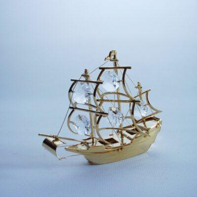 Tafeldeco zeilboot 9cmH