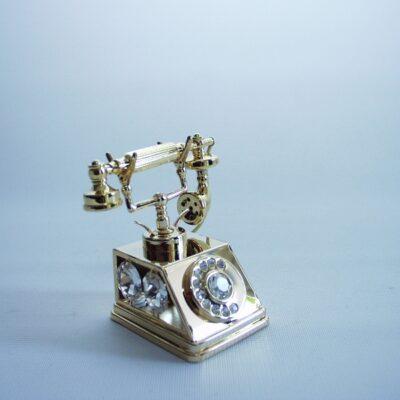 Telefoon tafeldecoratie 6.5cmH
