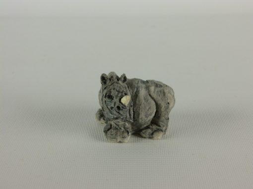 Neushoorn miniatuur 3.5cmLx3cmH
