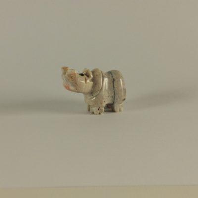 Nijlpaard marmer M 4cmL