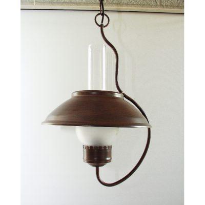 Plafondlamp gebogen enkel glas 50cmH