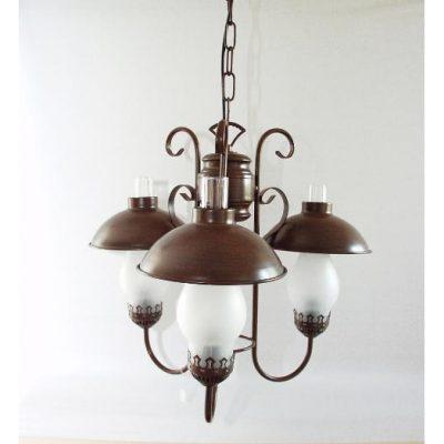 Plafondlamp 3 glazen 45cmH