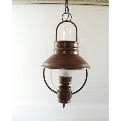 Plafondlamp met 1 glas 60cmh