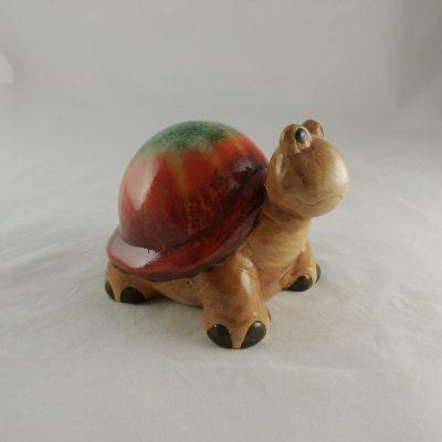 Schildpad Keramiek rood/groen 17cmLx13cmH