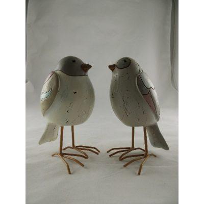 Vogels staand stel pastel 16.5cmH