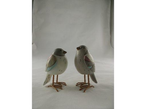 Vogels staand stel pastel 12cmH