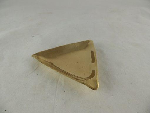 Asbak messing driehoekig 10cm