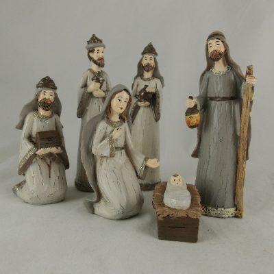 Kerstgroep 6-dlg met 3 koningen 15cmH