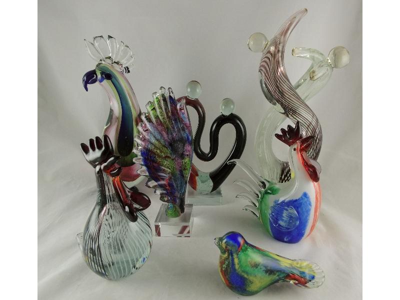 Moderne glassculpturen
