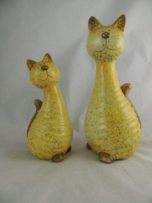 Katten stel keramiek 20cmH/26cmH