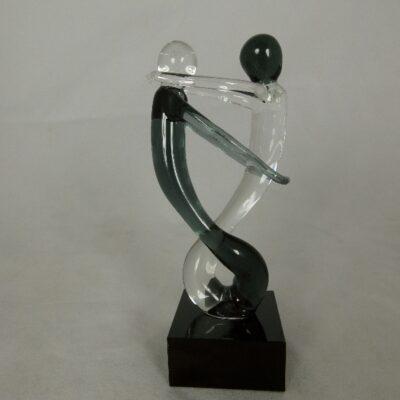Danspaar mini zwart/helder 12cmH