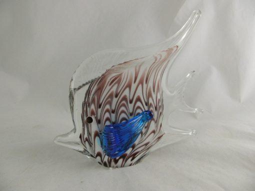 Maanvis glas wit/purper/blauw 18cmH
