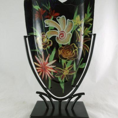 """Vaas glas """"Flowers"""" ovaal 22x37cmH"""