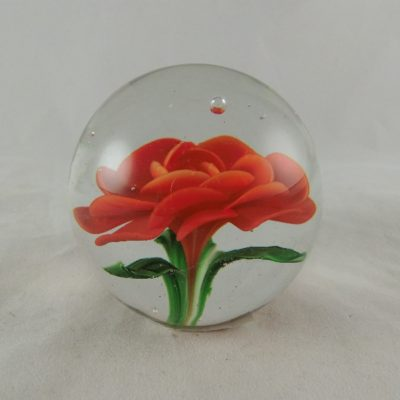 "Paperweight glas ""red rose"" Ø7cm"
