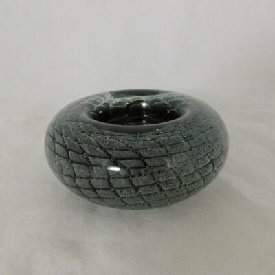 Waxinelichthouder grijs/zilver Ø11.5cm