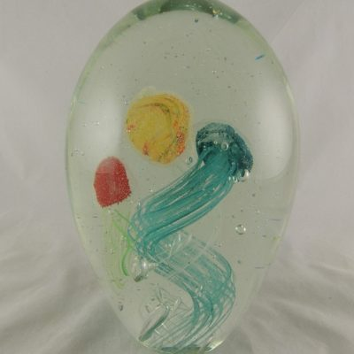 "Glasdruppel ""Jellyfish"" groot 3 kleuren 22cmH"