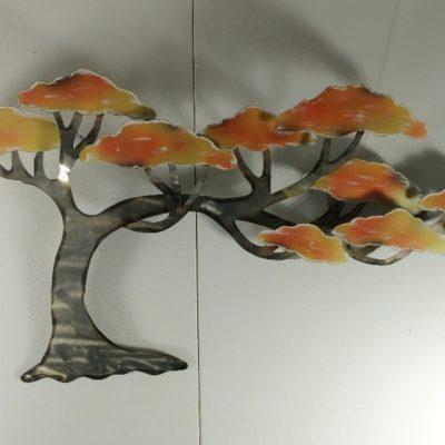 Wanddecoratie metaal boom 99x55cmH