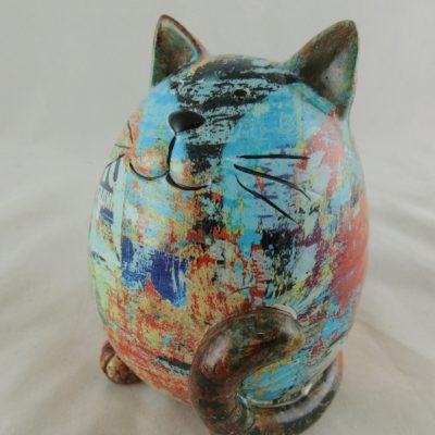 Kat gekleurd 12.5cmH