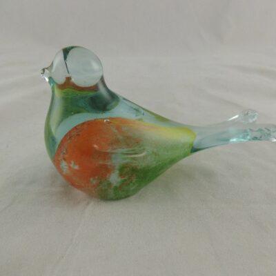 Vogel glas gekleurd 11cmLx7cmH