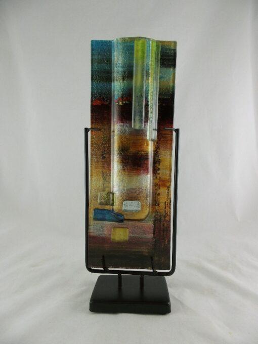 "Vaas glas gekleurd smal ""Desert"" 13x40cmH"