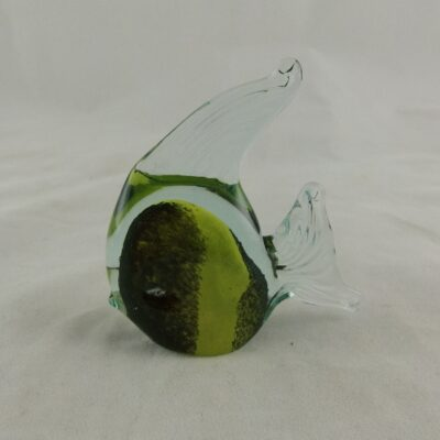 Maanvis glas zwart/geel 6.5x7cmH