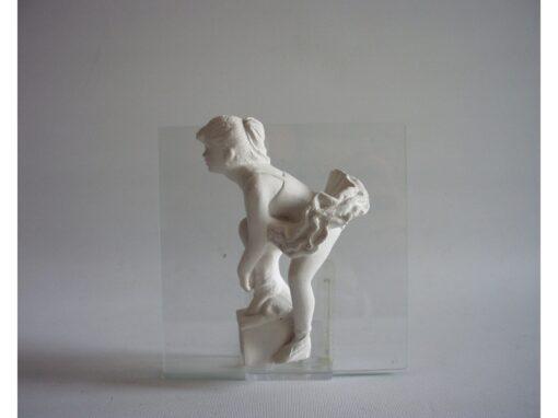 Ballerina op glas 11x11cm