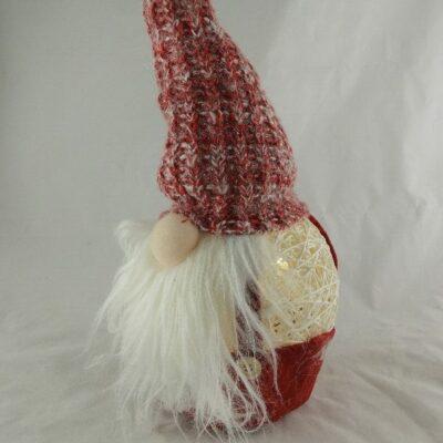 Kerstman kunststof met ledverlichting 40cmH