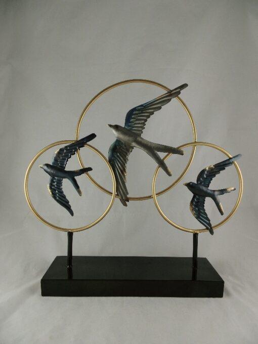 Vensterdecoratie vogels 49cmx45cmH