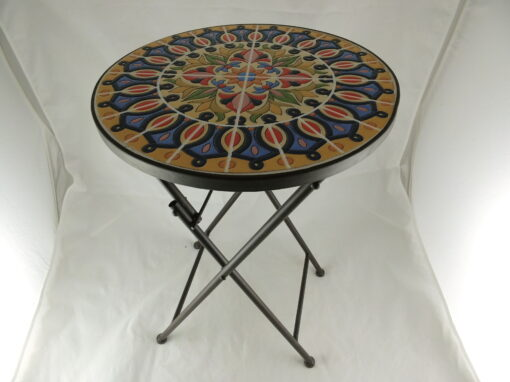 Bloementafeltje mozaiek inklapbaar Ø35cmx56cmH