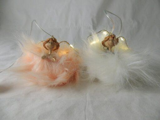 Engel met led hangend 2 asst. 8cmH