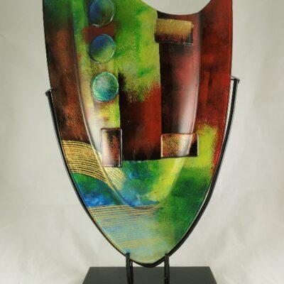 Vaas glas Artwork 37x59.5cmH
