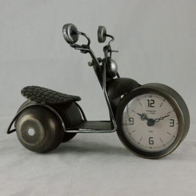 Klok motorfiets bronskleur 22cmLx16cmH