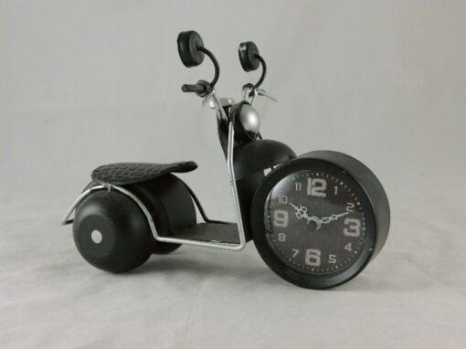 Klok motorfiets zwart 22cmLx16cmH
