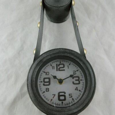 Wandklok antique grijs 34cmH