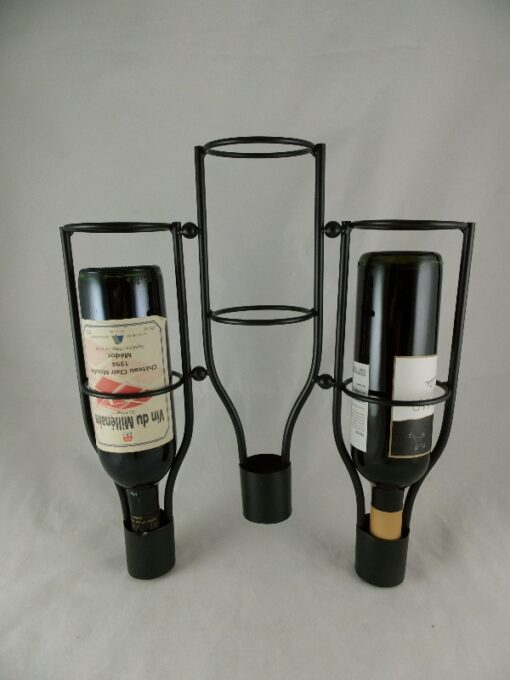 Wandwijnrek voor 3 flessen 36x42cmH