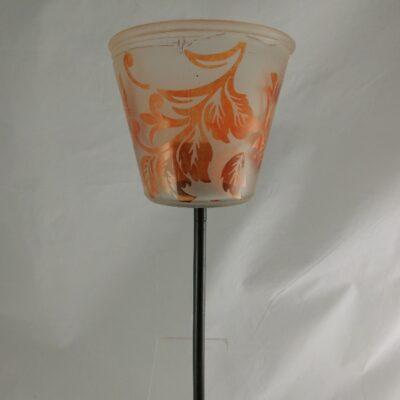 Waxinehouder tuinsteker oranje 100cmH