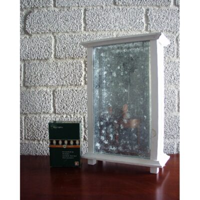 Sfeerlichthouder hout 24x36.5cmH met ledverlichting