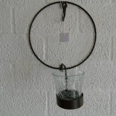 Metalen kranshanger met sfeerlicht Ø20cm
