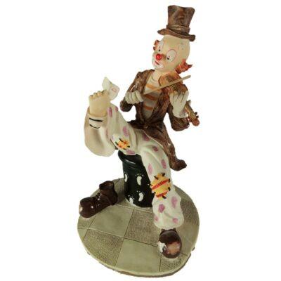 Clown met viool schoen uit 21cmH