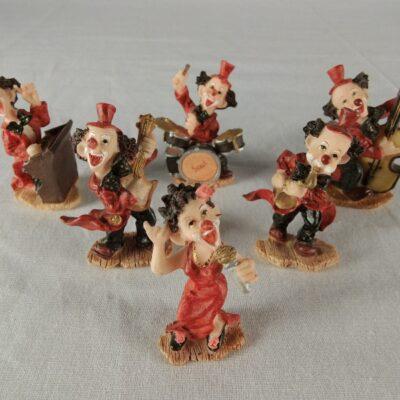 Clown orkest mini 6-delig 6.5cmH