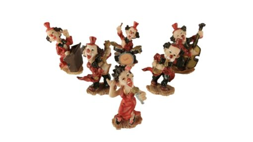 Clown orkest mini 6-delig 6.5cmH