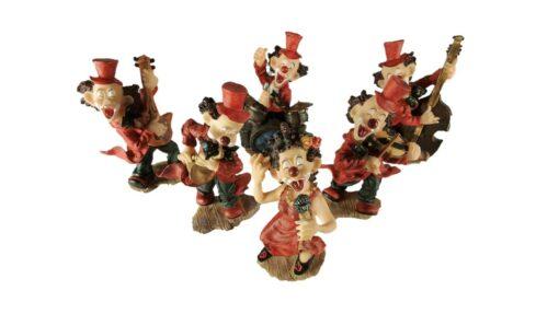 Clown orkest middel 6-delig 15cmH