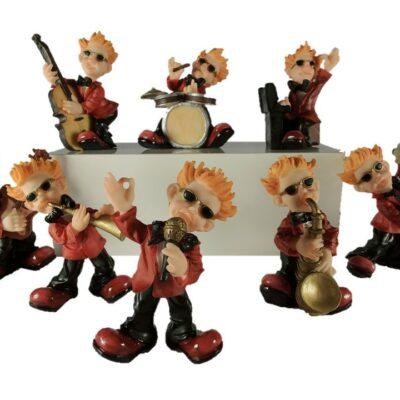 Rockers orkest middel 8-delig 11cmH
