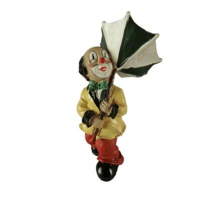 Clown staand met paraplu 10cmH