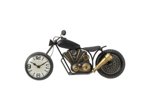 Wandklok metaal motorfiets 42cmLx22cmH