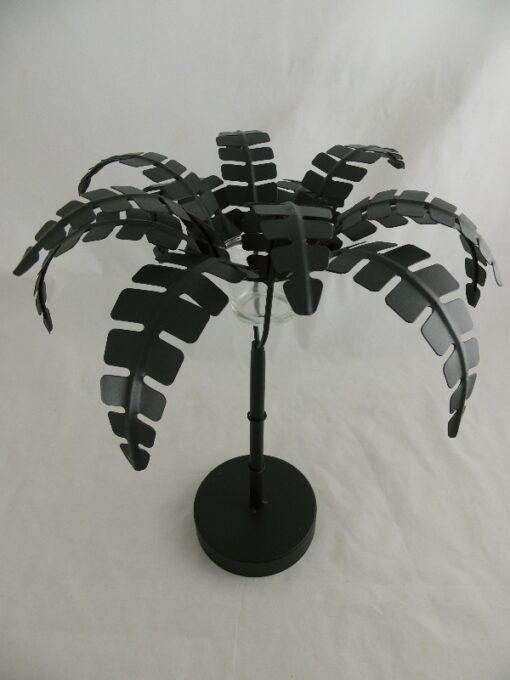 Palmboom zwart waxinelichthouder